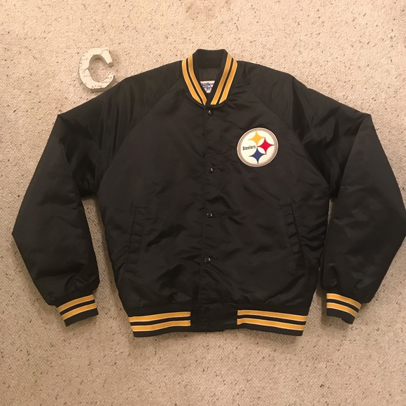 official photos 717c3 c34ab Pittsburgh Steelers NFL Varsity Bomber Jacket L